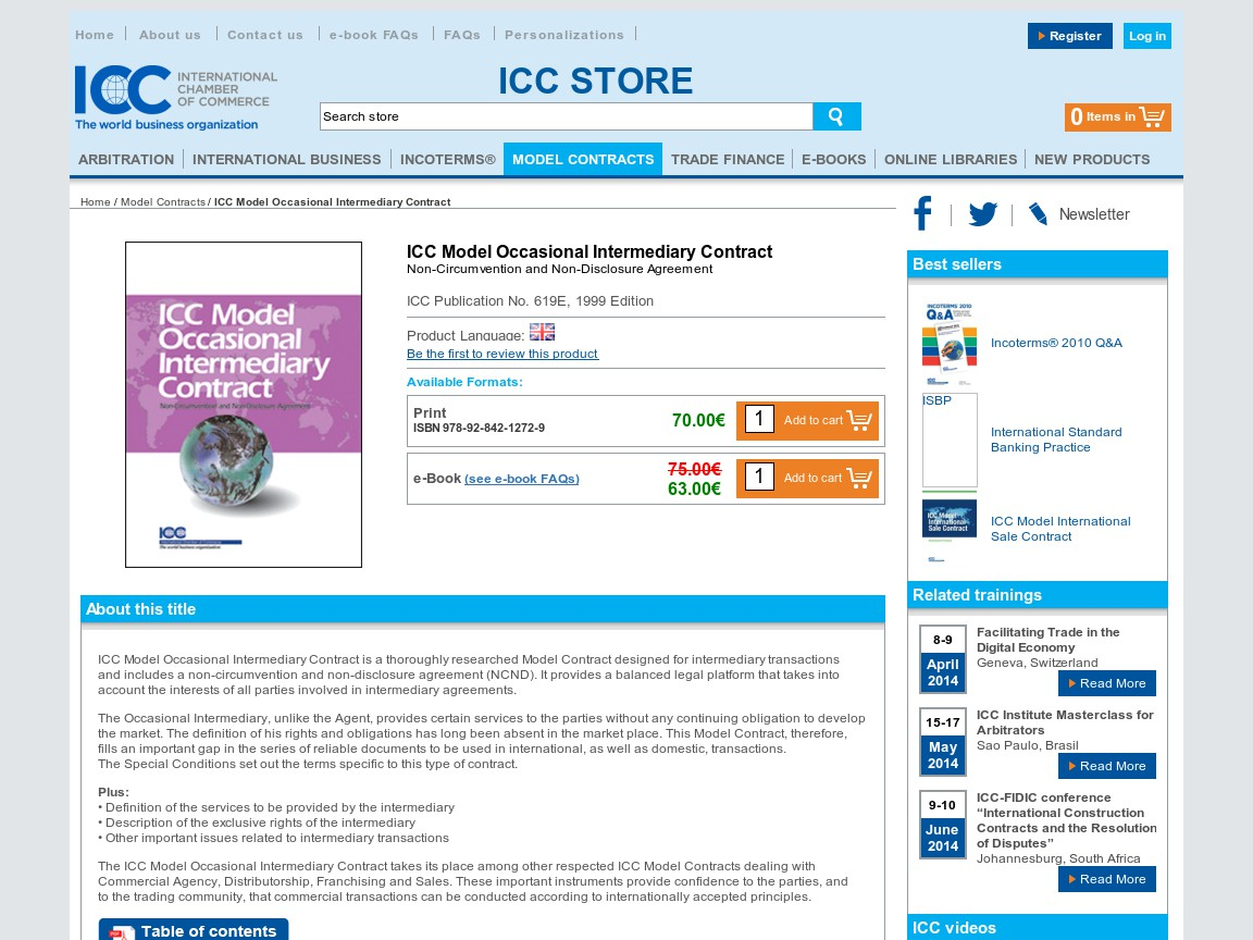 Icc Model Occasional Intermediary Contract Suvidha Copper Trading